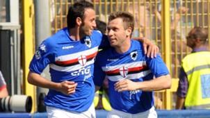 Giampaolo Pazzini Antonio Cassano Sampdoria 2010