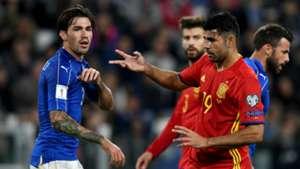 Alessio Romagnoli Diego Costa Italy Spain