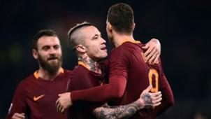 Daniele De Rossi Edin Dzeko Radja Nainggolan Roma Fiorentina