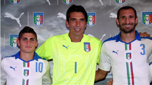 Italy unveiling new away kit with Verratti, Buffon and Chiellini