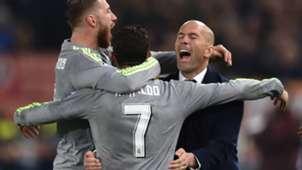 Zidane Cristiano Ronaldo Roma Real Madrid Champions League