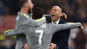 Zidane Cristiano Ronaldo Roma Real Madrid Champions League