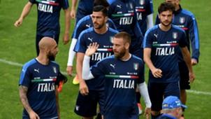 Italy training session Simone Zaza Daniele De Rossi Marco Parolo Graziano Pellè