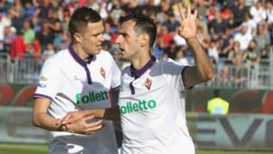 Nikola Kalinic Josip Ilicic Cagliari Fiorentina Serie A 23102016
