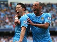 Zabaleta Nasri Manchester City West Ham Premier League