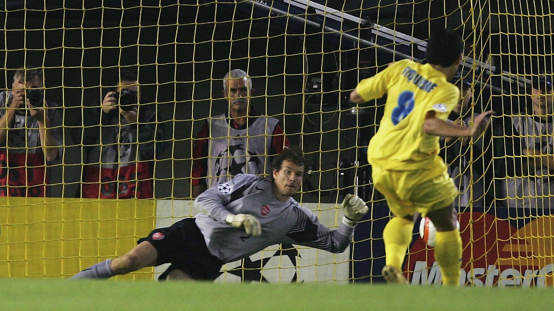 Juan Roman Riquelme Jens Lehmann Villarreal Arsenal