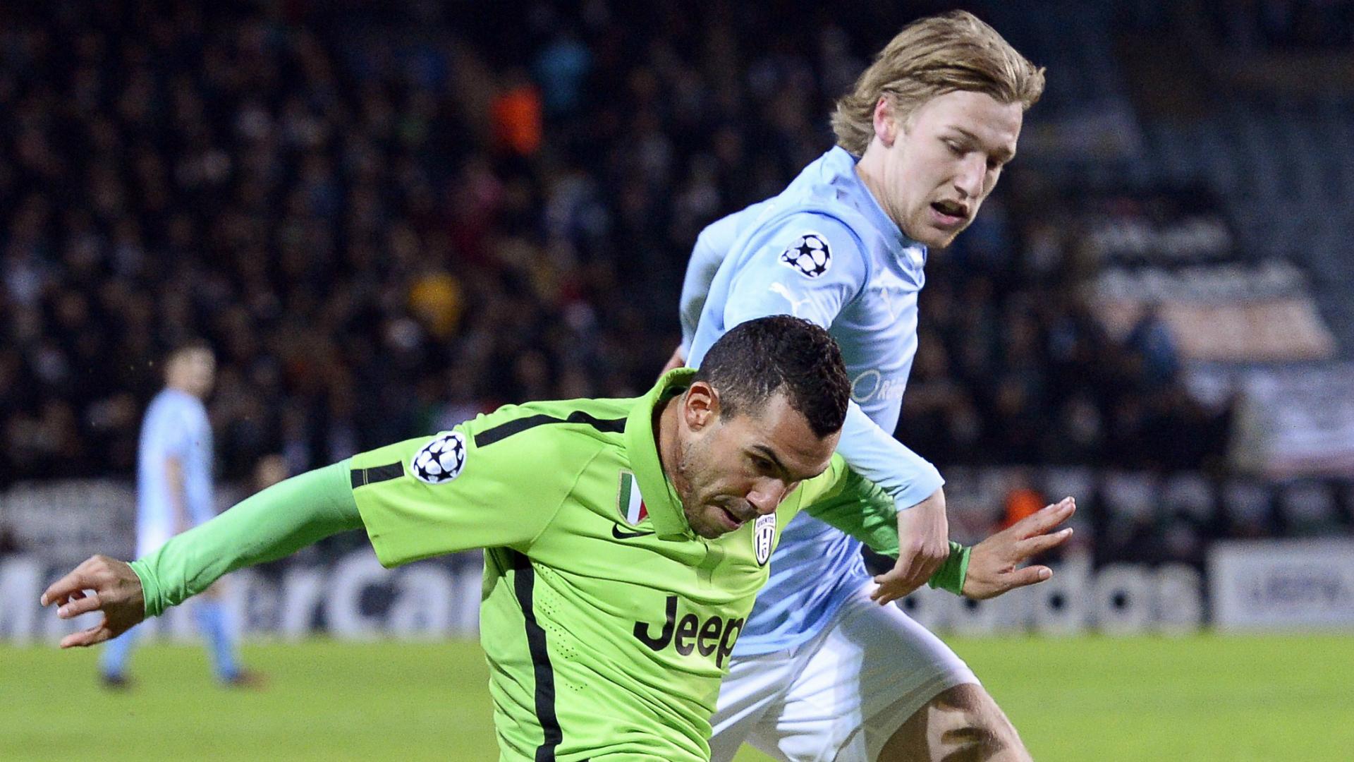 Emil Forsberg Carlos Tevez Malmoe Juventus