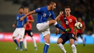 Leonardo Bonucci Italy Norway Euro 2016 13102015