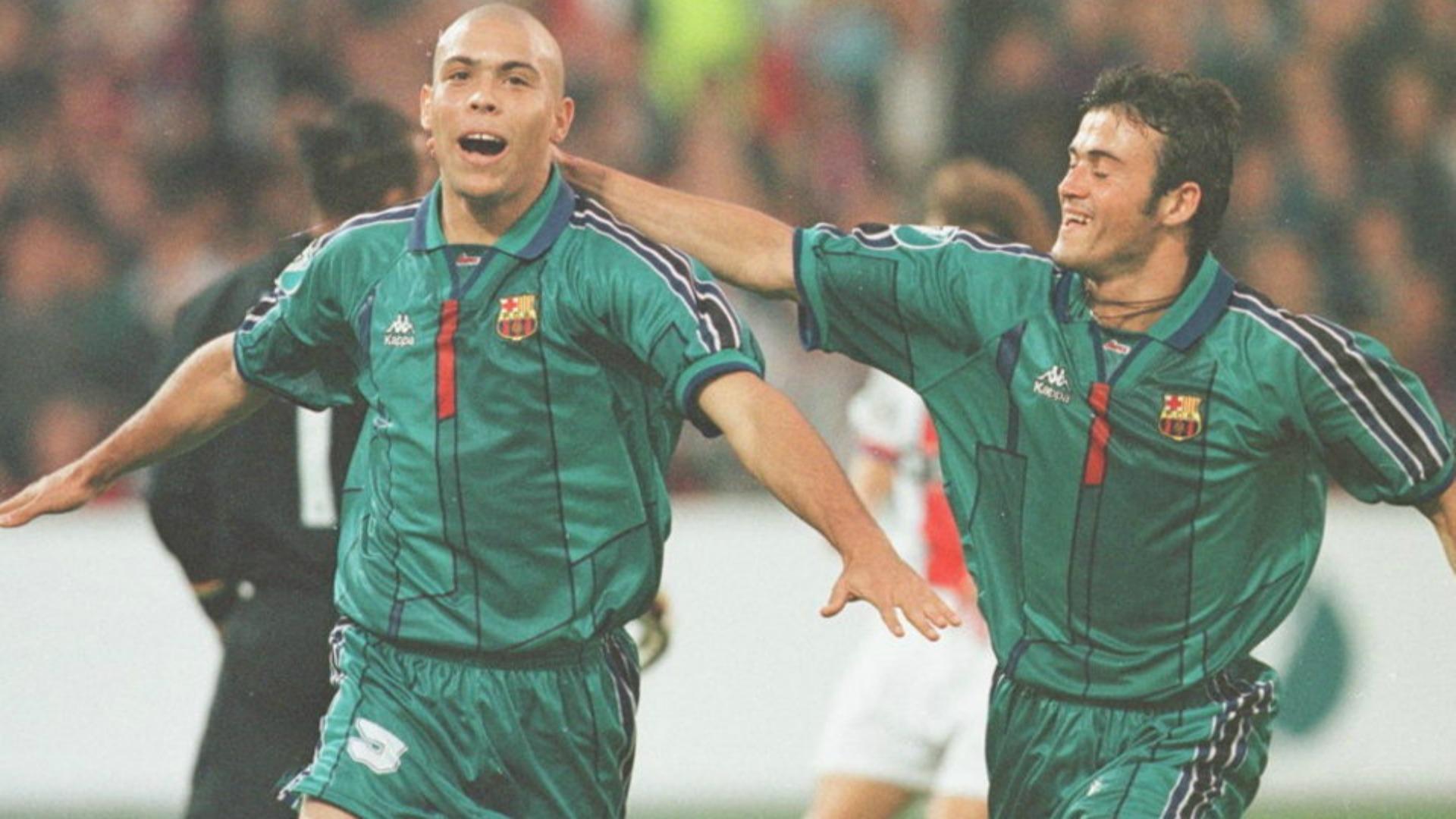 Resultado de imagen de segunda equipacion barcelona 1996