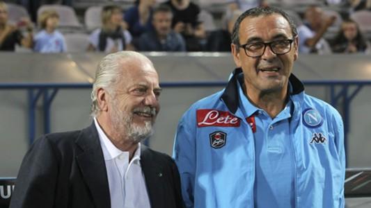 Aurelio De Laurentiis, Maurizio Sarri, Sassuolo-Napoli, Serie A, 20150823