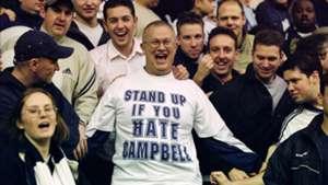 Tottenham fans marking Sol Campbell 17112001