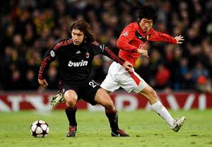 Park Ji-Sung Andrea Pirlo Manchester United AC Milan 2009-10 UEFA Champions League