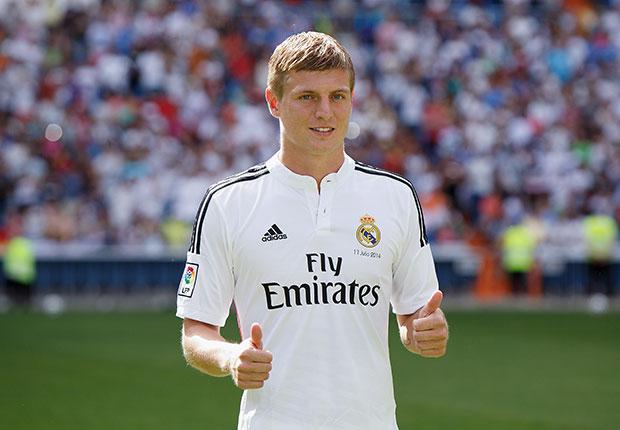 Toni Kroos Real Madrid unveiling 17072014