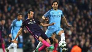 Ilkay Gundogan Sergio Busquets Manchester City Barcelona