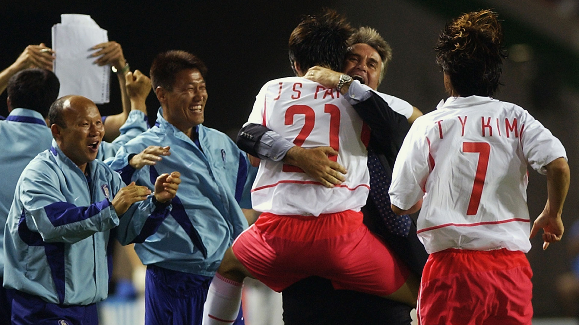 Gus Hiddink Park Ji-Sung Korea Republic 2002 FIFA World Cup