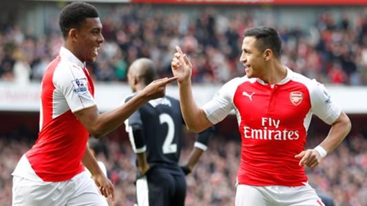 Alex Iwobi Alexis Sanchez Arsenal English Premier League