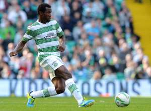 Efe Ambrose of Celtic in action during the Scottish Premier League game between Celtic and Ross County at Celtic Park Stadium on Aug 3, 2013