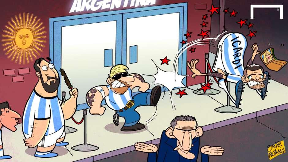CARTOON Messi kicks out Icardi