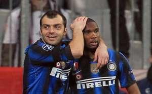 Goran Pandev and Samuel Eto'o - Inter