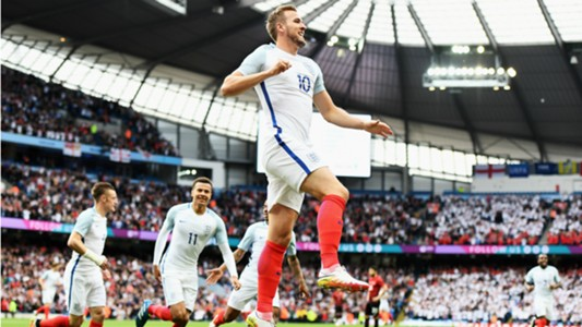 Harry Kane celebrates England Turkey