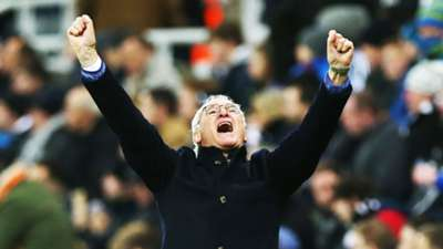 Claudio Ranieri Leicester City celebrates