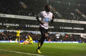 Tottenham striker Emmanuel Adebayor