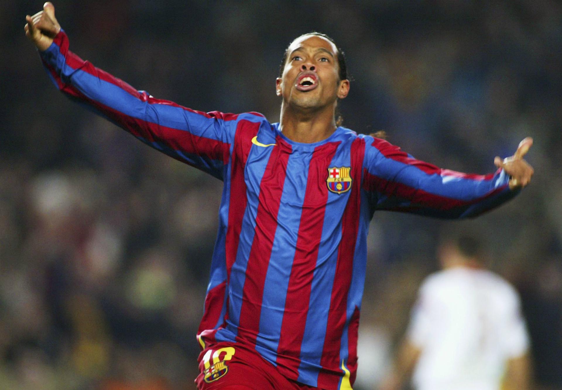 Ronaldinho avgjorde for barcelona