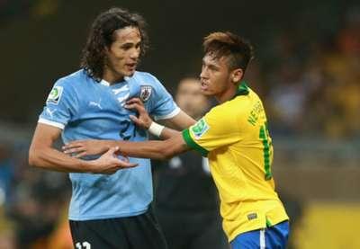 Edinson Cavani and Neymar - Uruguay-Brazil