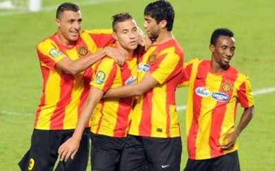 Esperance de Tunis striker Youssef Blaili celebrates his goal against Cameroon's Coton Sport @CAF Champions League