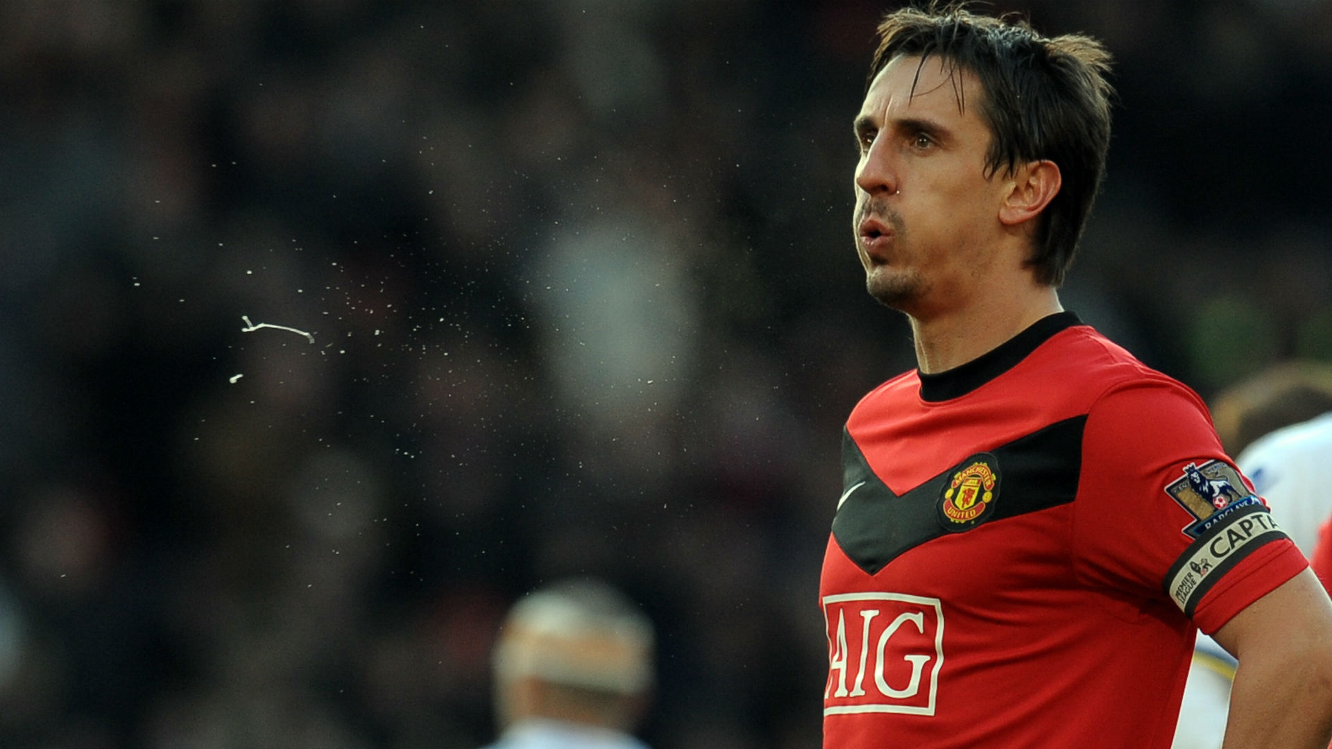 Gary Neville FA Cup Manchester United v Leeds