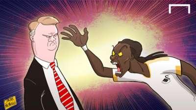 Cartoon of the Day: Louis van Gaal; Bafetimbi Gomis