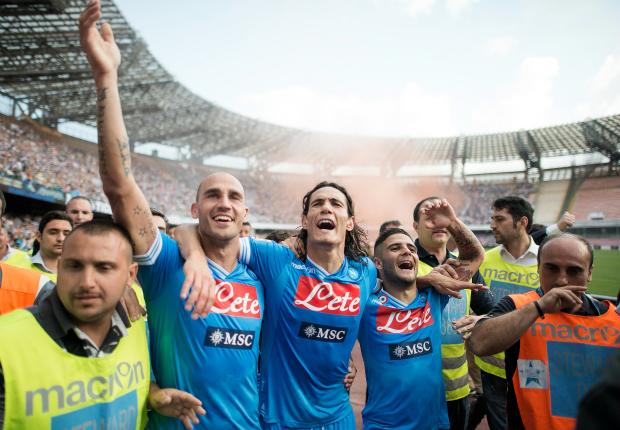 Paolo Cannavaro, Edinson Cavani, Lorenzo Insigne - Napoli-Siena