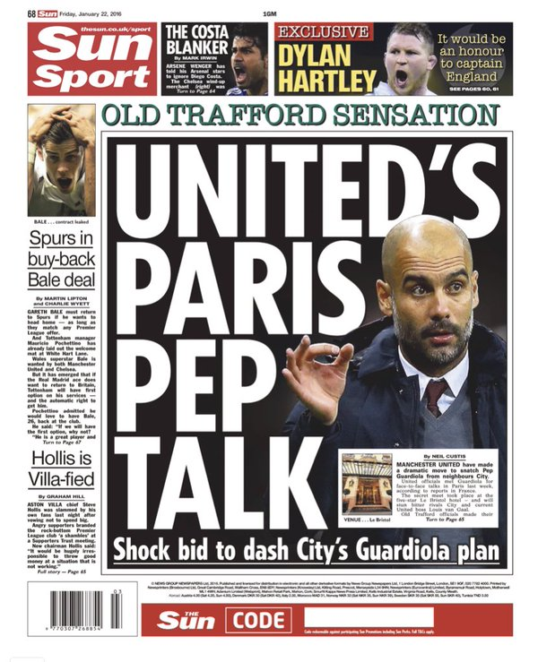 Epl Matches Live On Rcti Indonesia Tv Channel: The Sun Backpage 22012016