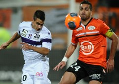 Wissam Ben Yedder Welsey Lautoa Lorient Toulouse Ligue 1 02152014