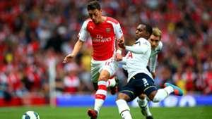 Mesut Ozil & Danny Rose Premier League Arsenal v Tottenham 270914