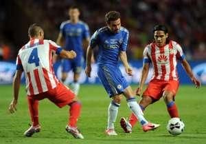 Radamel Falcao Juan Mata Atletico Madrid Chelsea UEFA Super Cup 08312012