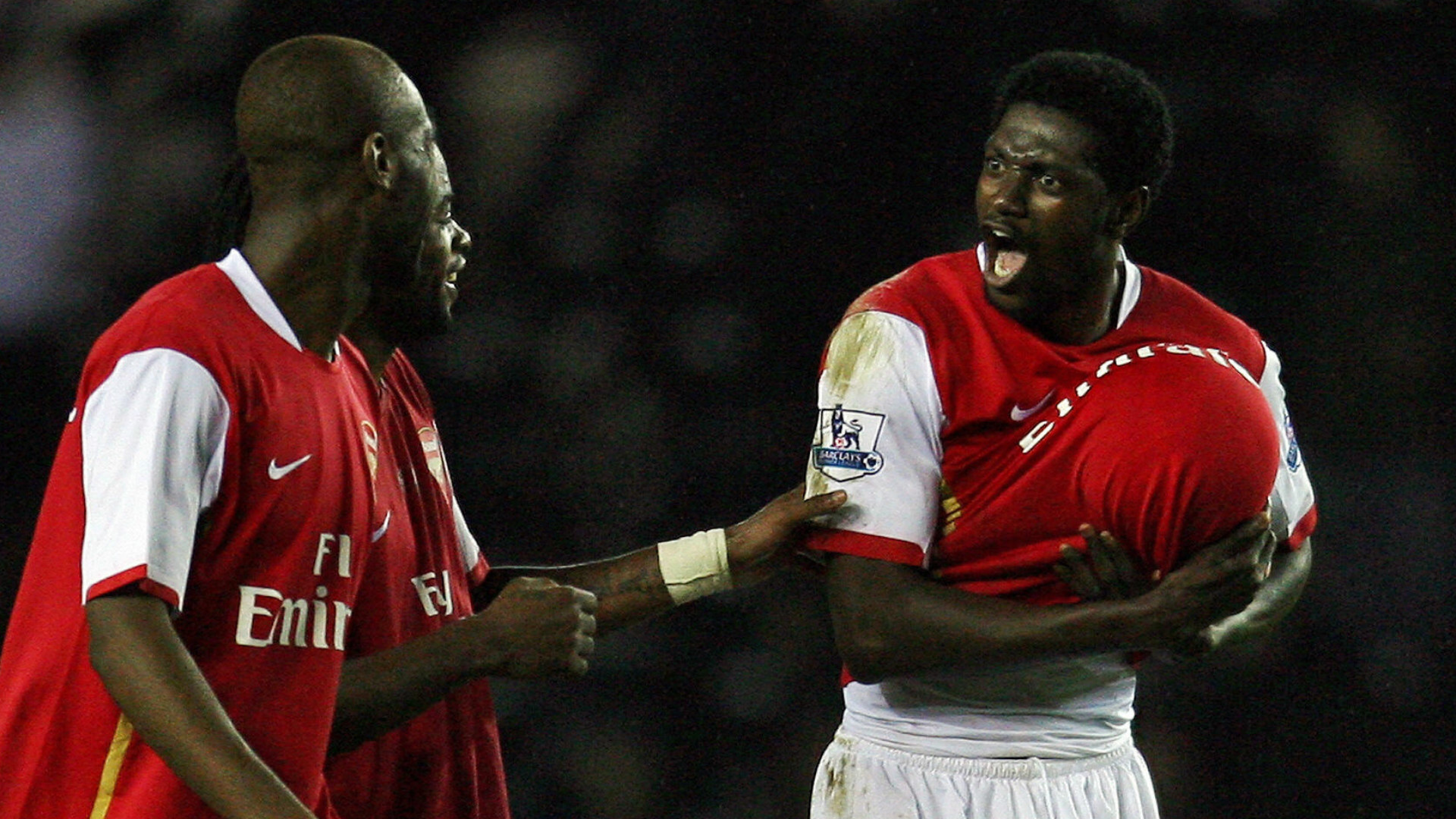 Emmanuel Adebayor Arsenal Derby 2008