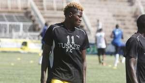 Tusker striker Ismael Dunga.