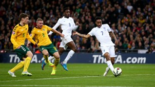 Raheem Sterling Euro 2016 qualifying England v Lithuania 270315