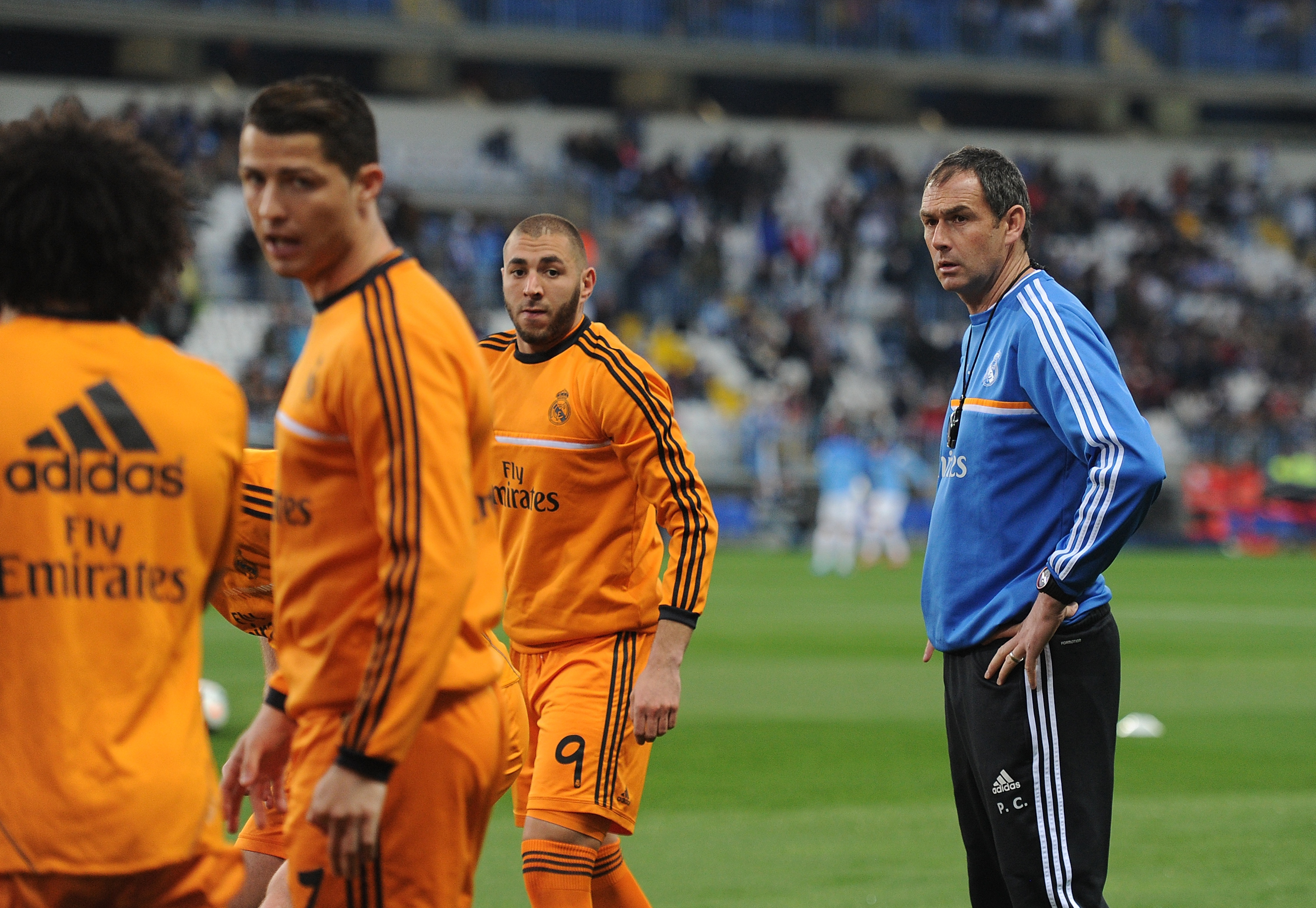 Paul Clement, Cristiano Ronaldo and Karim Benzema with Real Madrid