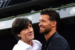 Germany coach Joachim Low and former midfielder Michael Ballack