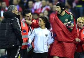 Jose Mourinho Petr Cech Atletico Madrid Chelsea Champions League semi final 04222014