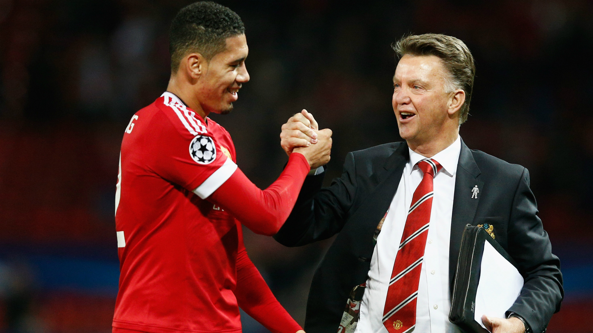 Chris Smalling Louis van Gaal Manchester United