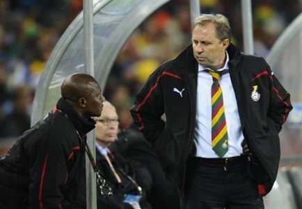 Milovan Rajevac and coach Kwesi Appiah