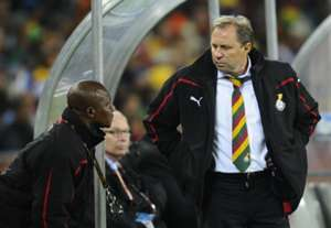 Milovan Rajevac and coach Kwesi Appiah