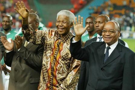Nelson Mandela & Jacob Zuma at Nelson Mandele Challenge 2004