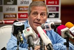 Uruguay's head football coach Oscar Washington Tabarez