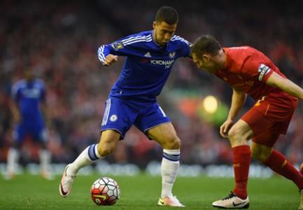 Eden Hazard scores against Liverpool