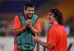 Gerard Pique and Carles Puyol
