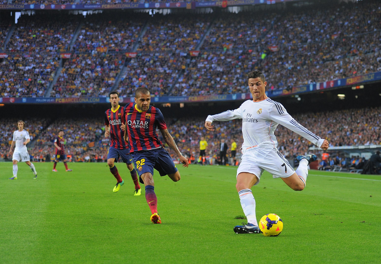 Cristiano Ronaldo Dani Alves Clasico Barcelona Real Madrid 26102013